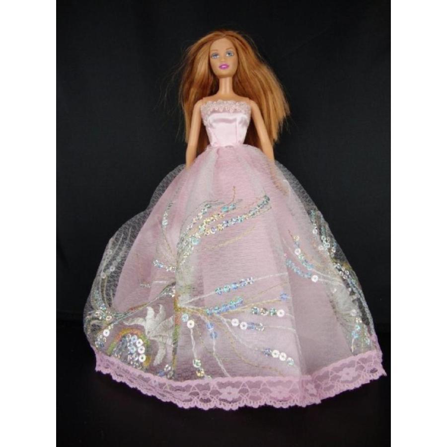 バービー人形 着せ替え おもちゃ Light ピンク Dress with Large Sequin Accents Made to Fit the Barbie Doll 輸入品