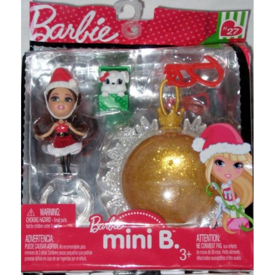 バービー人形 着せ替え おもちゃ Barbie Mini B with Pet 黄 Christmas Ornament 輸入品