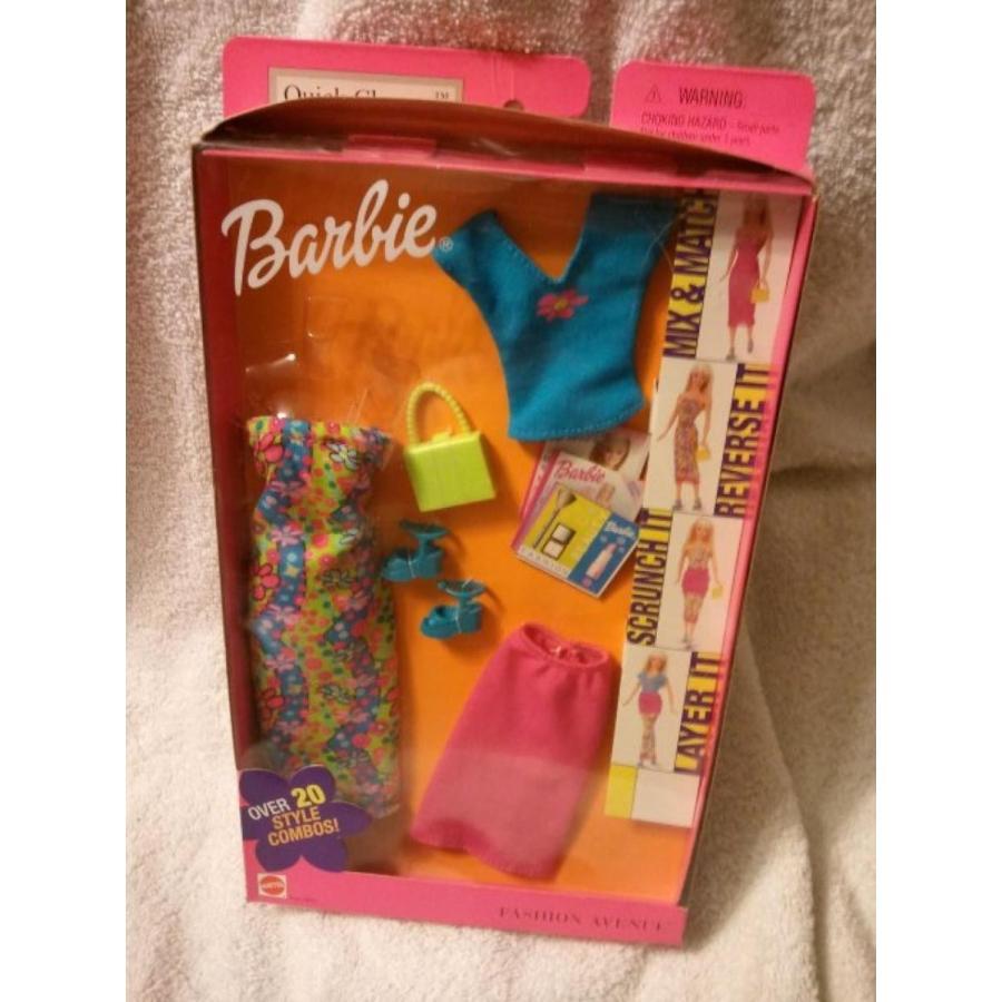 バービー人形 おもちゃ 着せ替え Barbie Neon 緑 Quick Change Fashion 輸入品