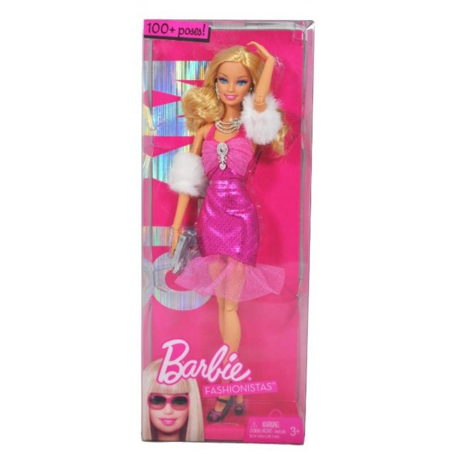 バービー人形 着せ替え おもちゃ Barbie Year 2009 Fashionistas Series 12 Inch Doll - GLAM B