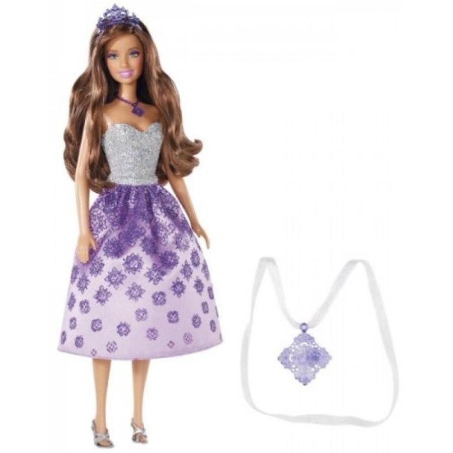 バービー人形 着せ替え おもちゃ Barbie Princess Teresa Doll and Gift for Girl Necklace 輸入品