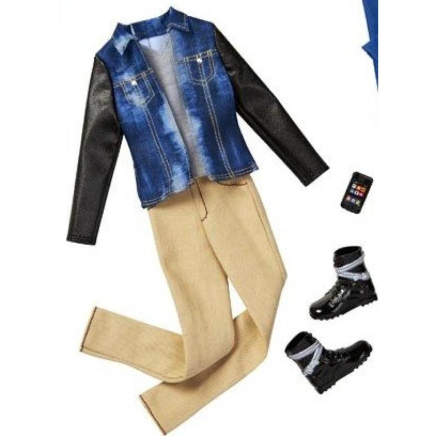 バービー人形 着せ替え おもちゃ Barbie Fashion Clothing for Ken - 青 Jean Jacket with Khaki Pants and Biker Boots 輸入品