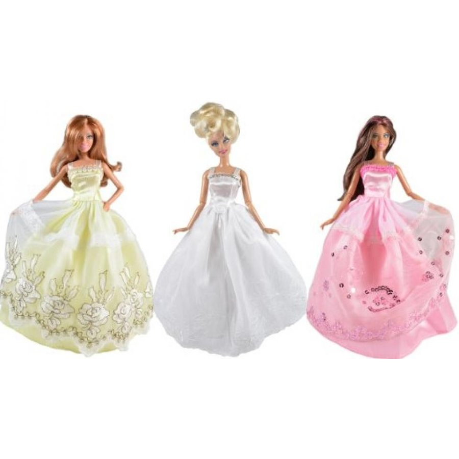バービー人形 着せ替え おもちゃ Dresses for Barbie - The Royal Wedding Collection (3 Dress Set) DOLLS NOT INCLUDED 輸入品