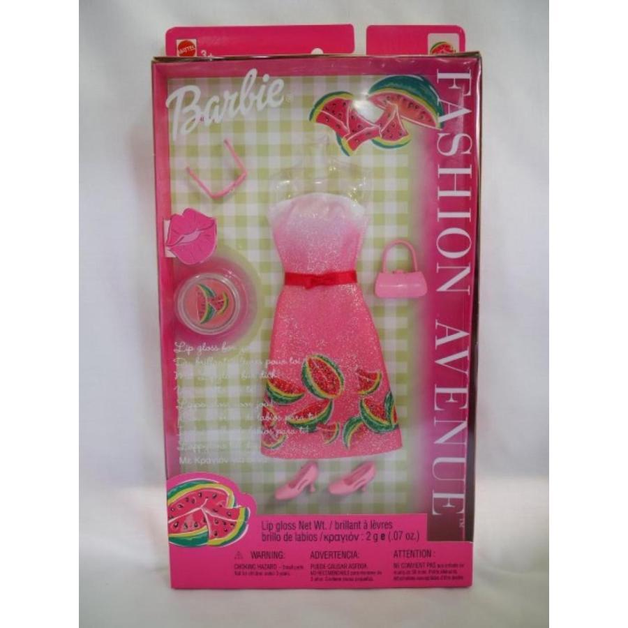 バービー人形 着せ替え おもちゃ Barbie Outfit Fashion Avenue Watermelon with Lip Gloss 輸入品