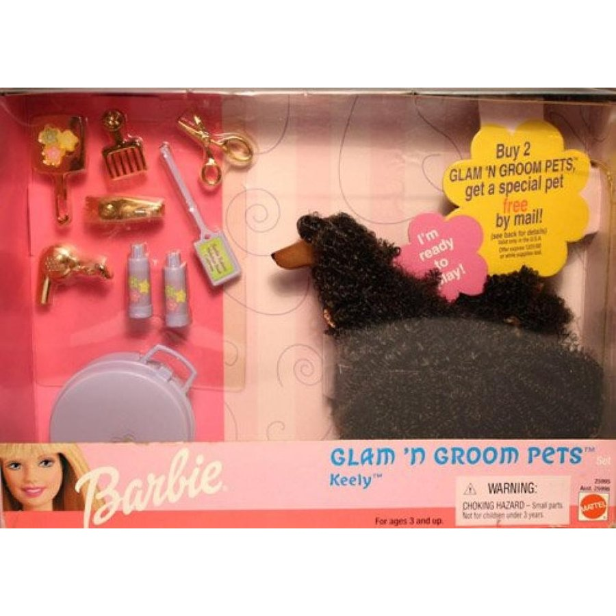 バービー人形 おもちゃ 着せ替え Barbie Glam 'N Groom Pets Keely 25995 輸入品