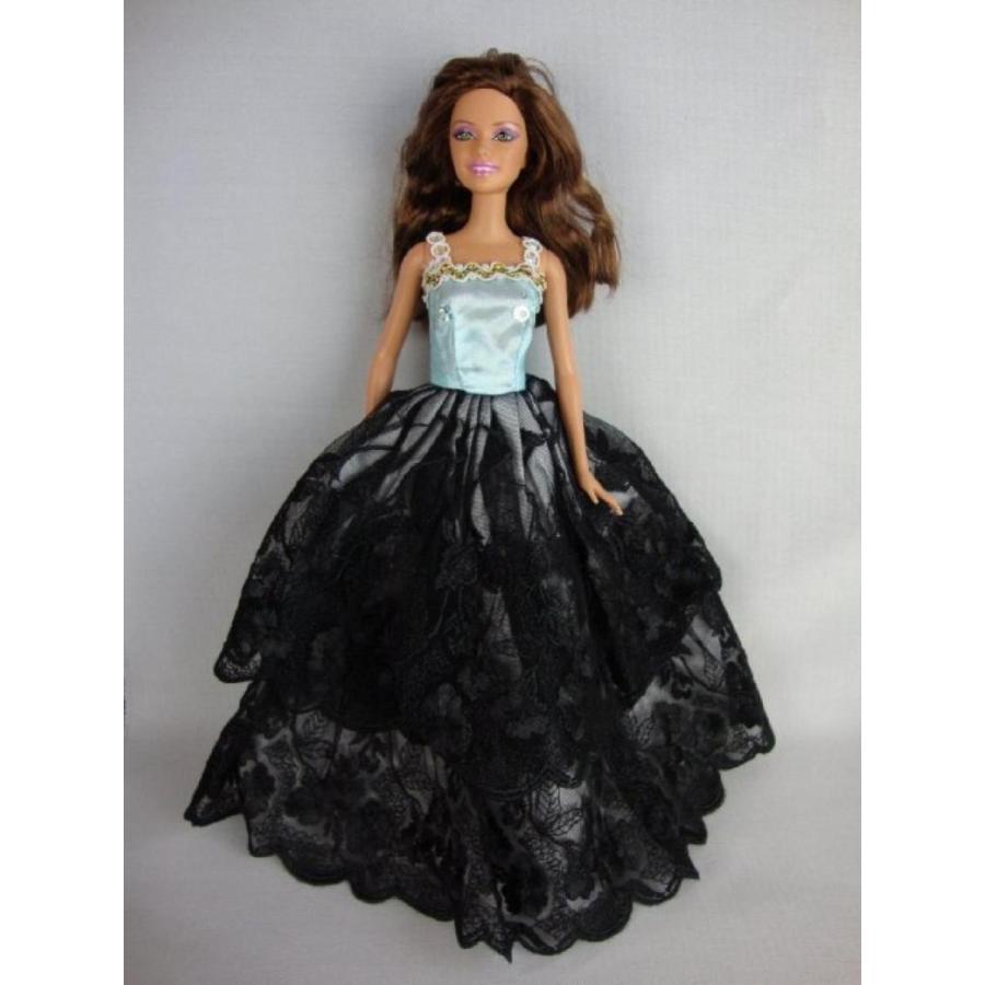 バービー人形 着せ替え おもちゃ 黒 Gown with a Light 青 Botice Made for the Barbie Doll 輸入品