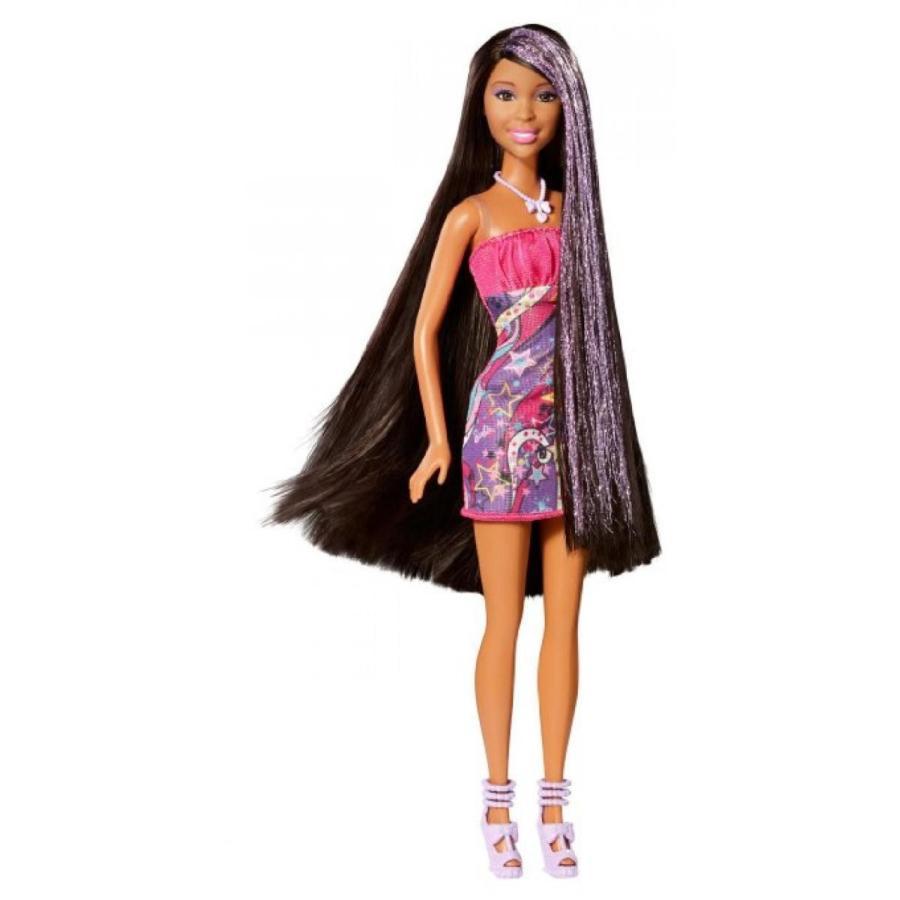 バービー人形 おもちゃ 着せ替え Barbie Hair-Tastic Long Hair African-American Doll 輸入品