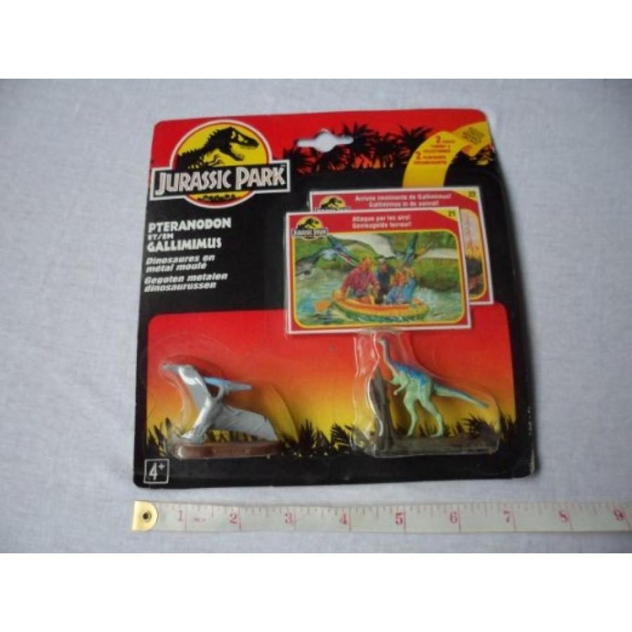 ジュラシックワールド おもちゃ フィギュア 恐竜 Jurassic Park Die Cast PTERANODON AND GALLIMIMUS Mini Dinosaurs 輸入品