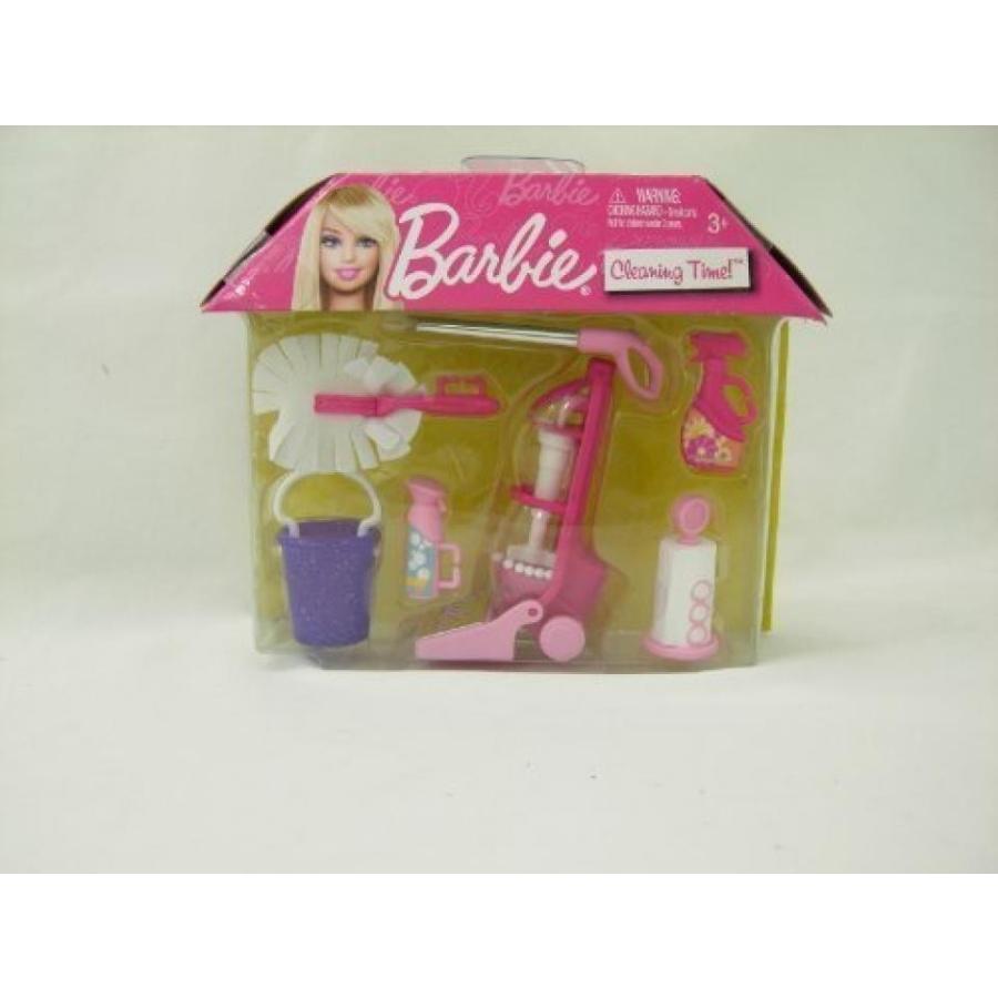 バービー人形 着せ替え おもちゃ Barbie Cleaning Time - ピンク 輸入品