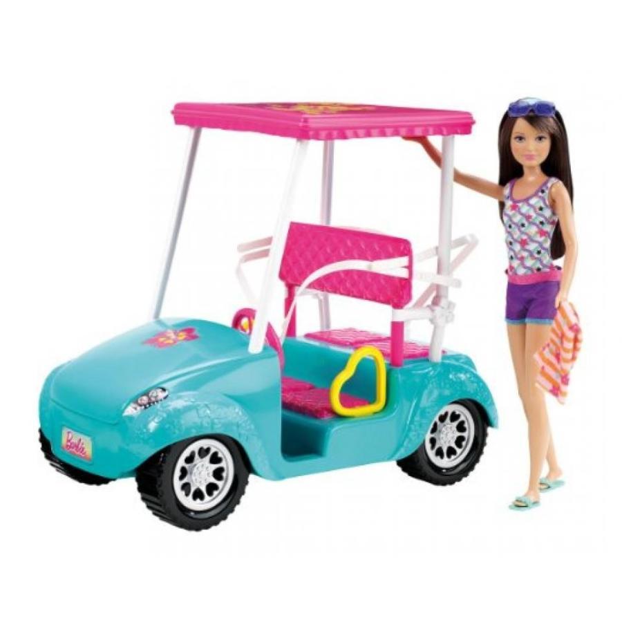 バービー人形 おもちゃ 着せ替え Barbie Sisters Golf Cart and Skipper Doll Set 輸入品