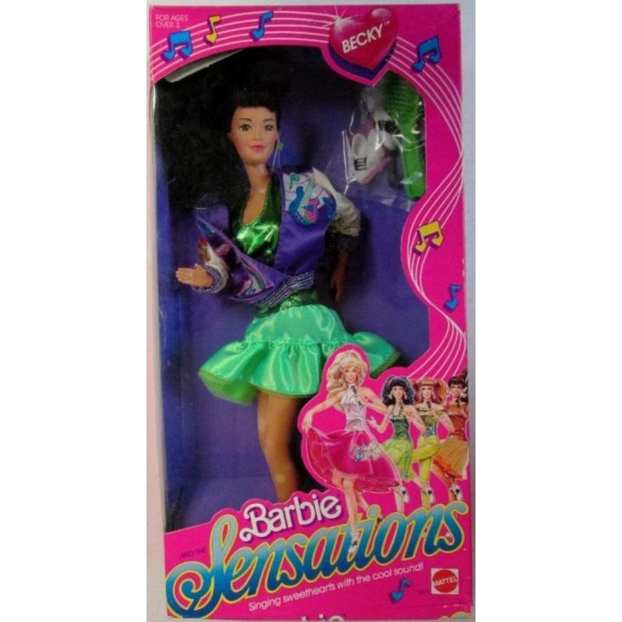 バービー人形 おもちゃ 着せ替え Barbie Sensations Becky in box 1987 輸入品