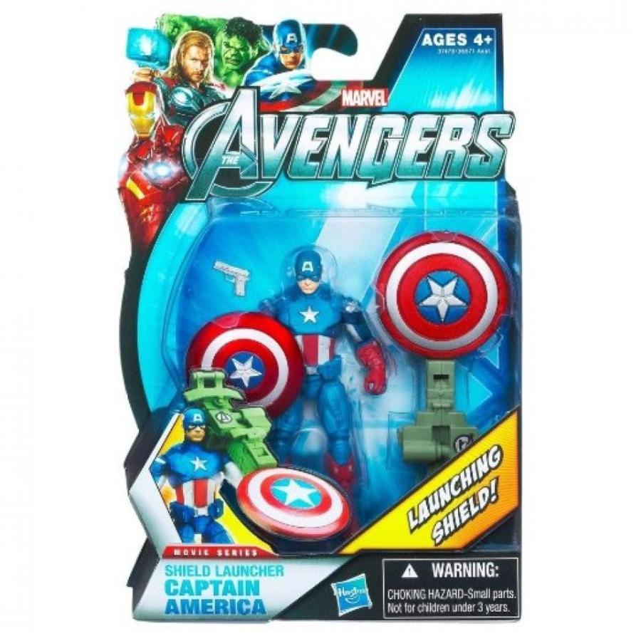 アベンジャーズ おもちゃ フィギュア Marvel Avengers Movie 4 Inch Action Figure Shield Launcher Captain America 輸入品