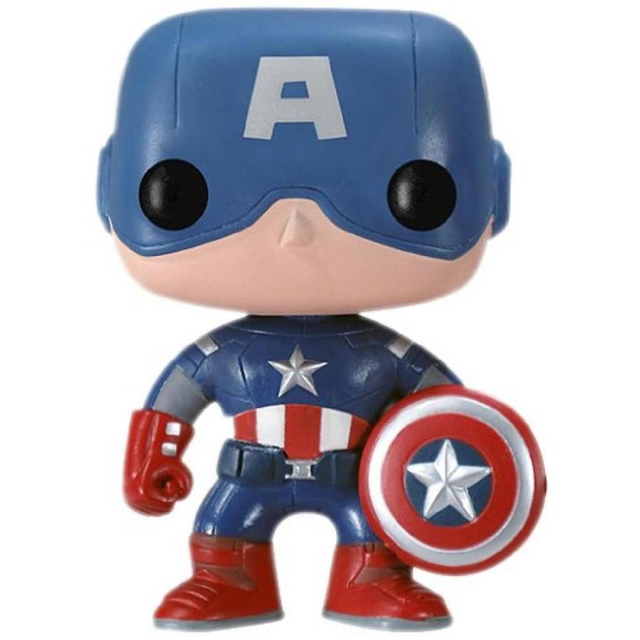 アベンジャーズ おもちゃ フィギュア Funko Pop Marvel (Bobble): Avengers - Capt. America 輸入品
