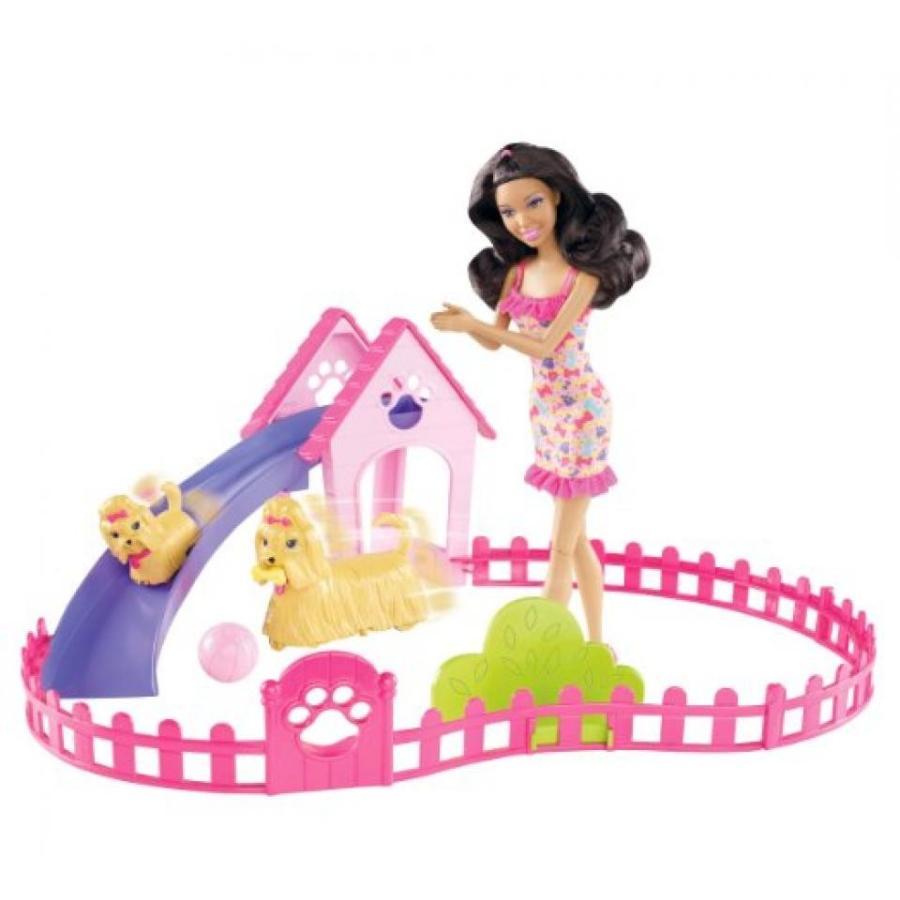 バービー人形 おもちゃ 着せ替え Barbie Puppy Play Park and Nikki Doll Giftset 輸入品