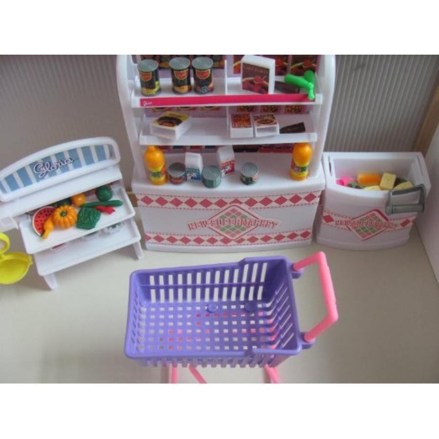 バービー人形 着せ替え おもちゃ Barbie Size Dollhouse Furniture-supermarket Shopping Cart Veggie 輸入品