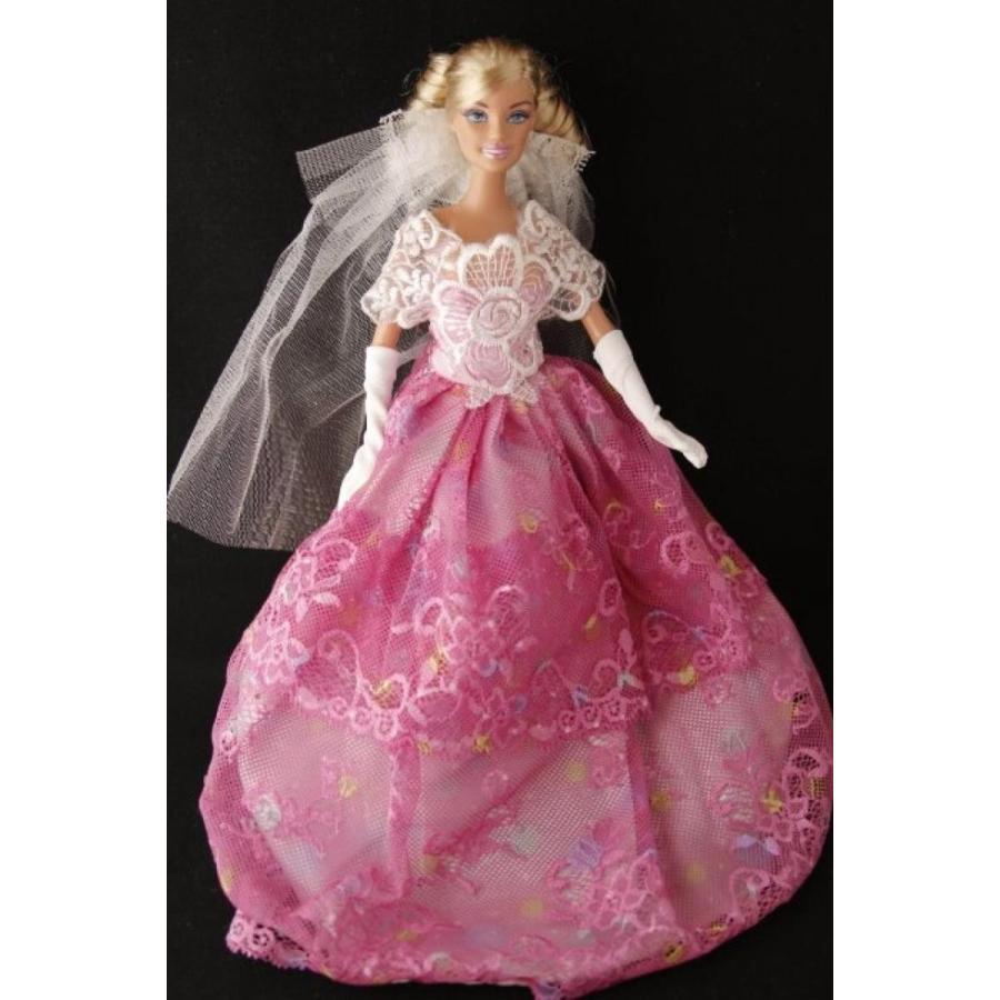 バービー人形 着せ替え おもちゃ BUYS BY BELLA ピンク Floral Barbie Sized Doll Party Dress 輸入品