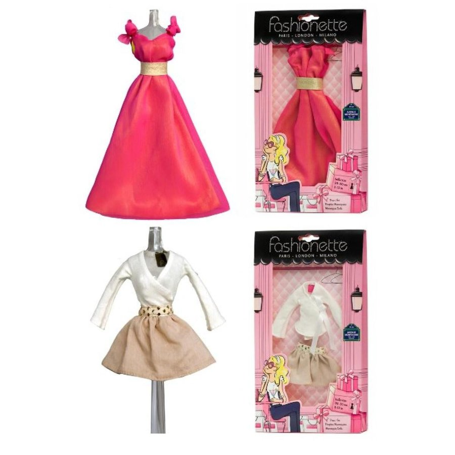 バービー人形 おもちゃ 着せ替え 2 Fashion Outfits - Prom Dress + Vacation Style designer -
