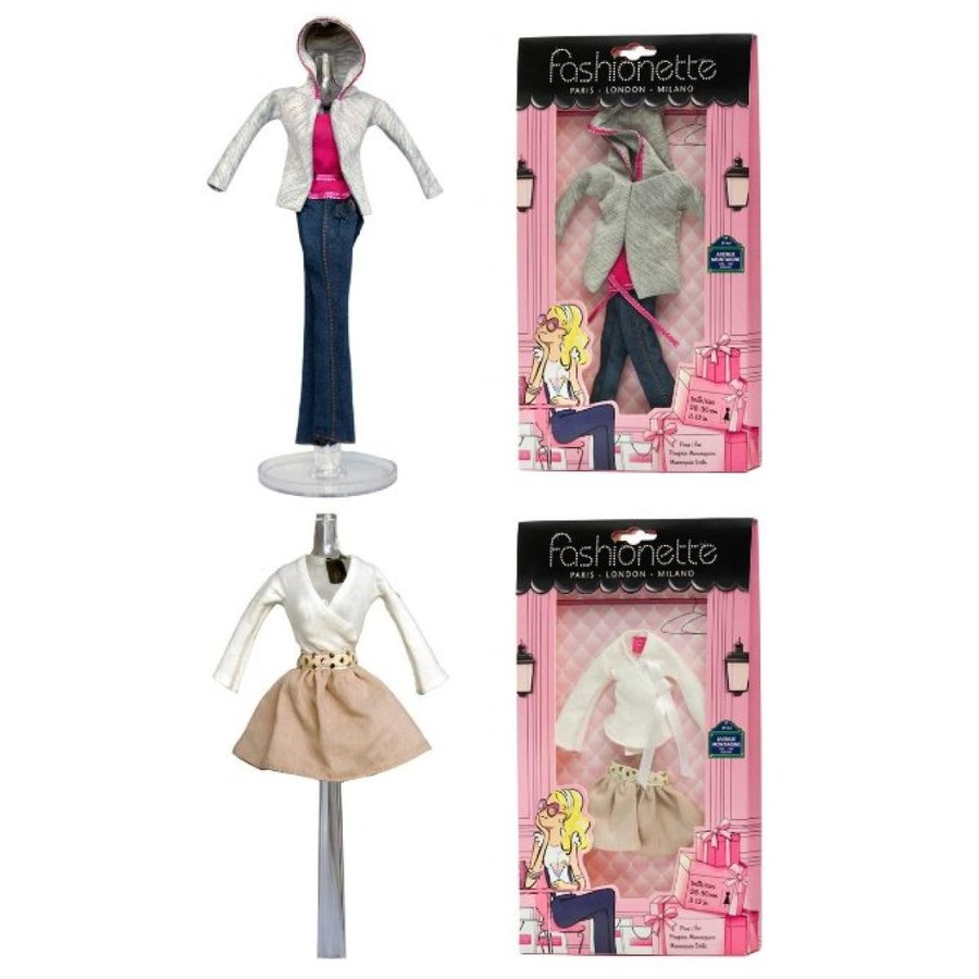 バービー人形 おもちゃ 着せ替え 2 Fashion Outfits - City Style designer + Vacation Style d