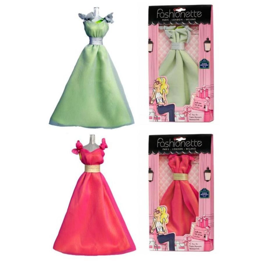 バービー人形 おもちゃ 着せ替え 2 Fashion Dresses - Gala dress + Prom dress - to fit Barbie By Fashionette Paris 輸入品