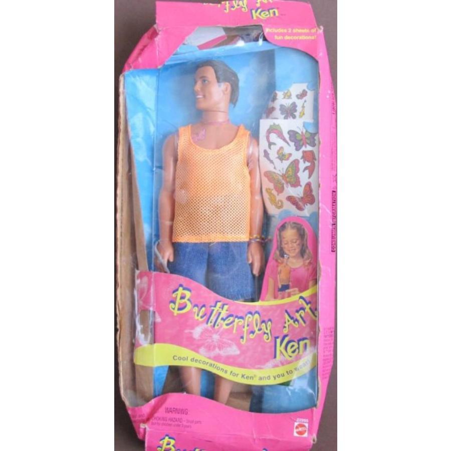 バービー人形 おもちゃ 着せ替え Barbie BUTTERFLY ART KEN Doll w Temporary TATTOO STICKERS (1998) *BOX BADLY CRUSHED 輸入品