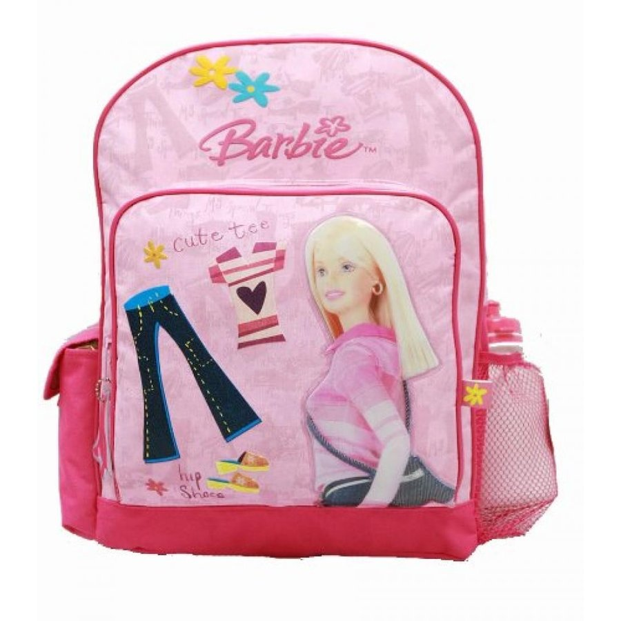 バービー人形 着せ替え おもちゃ Backpack - Barbie - Large Backpack with Water Bottle - ピンク Clothes & Jeans 輸入品