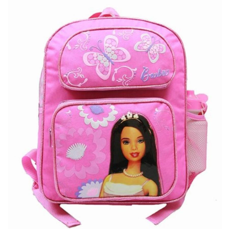 バービー人形 着せ替え おもちゃ Medium Backpack - Barbie - with Water Bottle - ピンク 2 Butterfly 輸入品