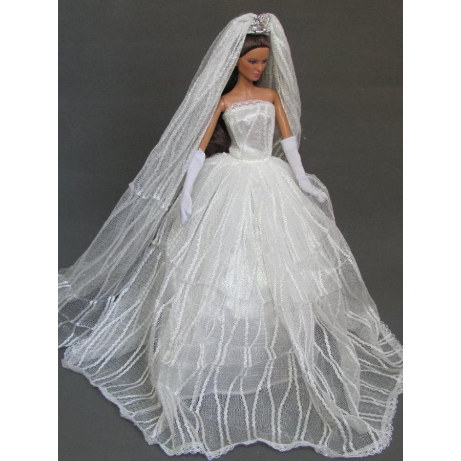 バービー人形 着せ替え おもちゃ Barbie Doll Clothes Dress: Wedding Dress with Veil Fit 11.5 Inch Barbie Dolls 輸入品