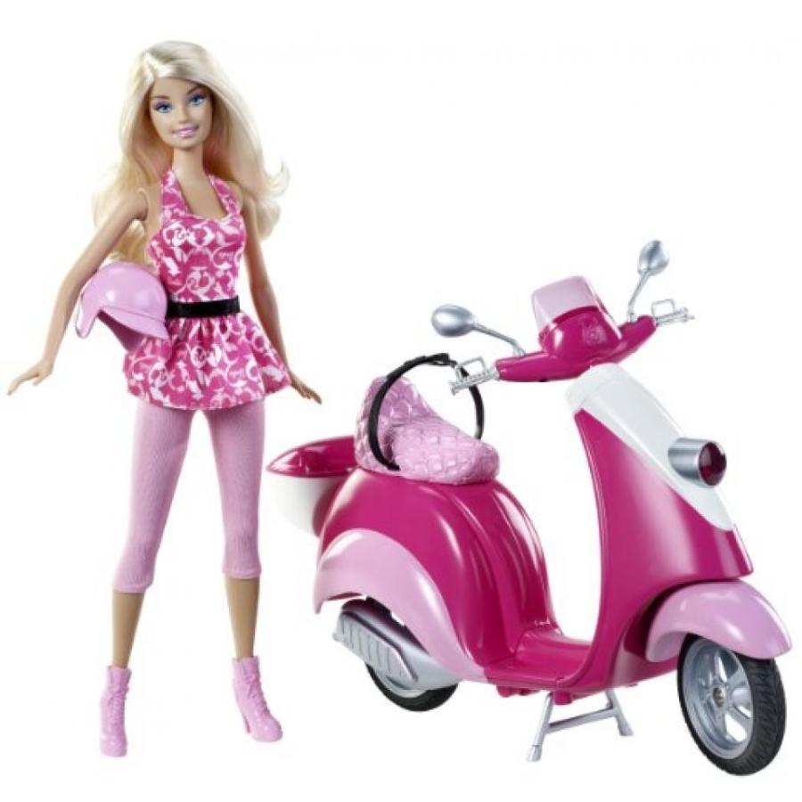 バービー人形 おもちゃ 着せ替え Barbie KidPicks Doll and Scooter 輸入品