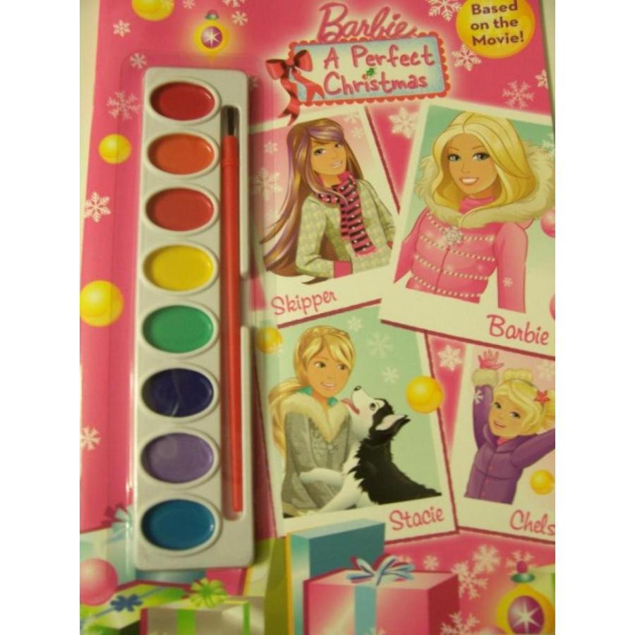 バービー人形 着せ替え おもちゃ Barbie Christmas Storybook Based on the Movie ~ A Perfect Christmas Book to Paint 輸入品