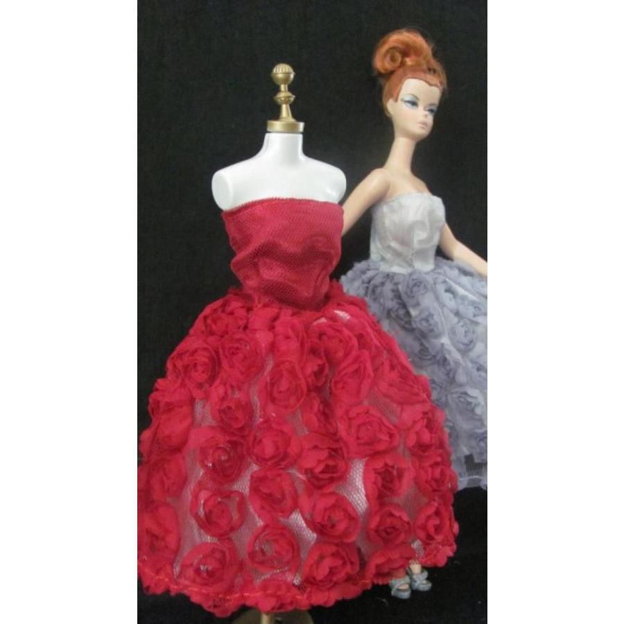 バービー人形 着せ替え おもちゃ Barbie Doll Clothes Dress: 赤 Elegant Flower Dress Fits 1
