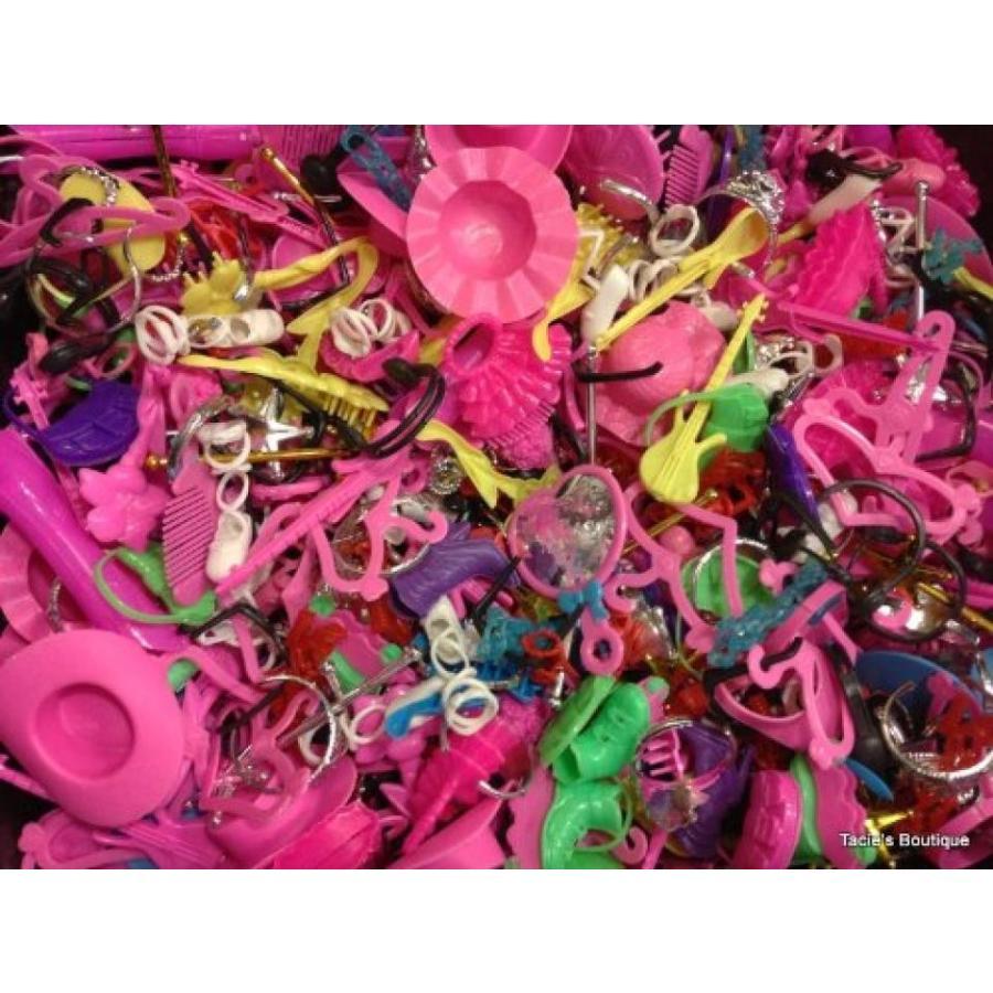 バービー人形 着せ替え おもちゃ (100) pcs. of Barbie Doll Accessories~Shoes, Hats, Necklaces, Purses, etc. 輸入品