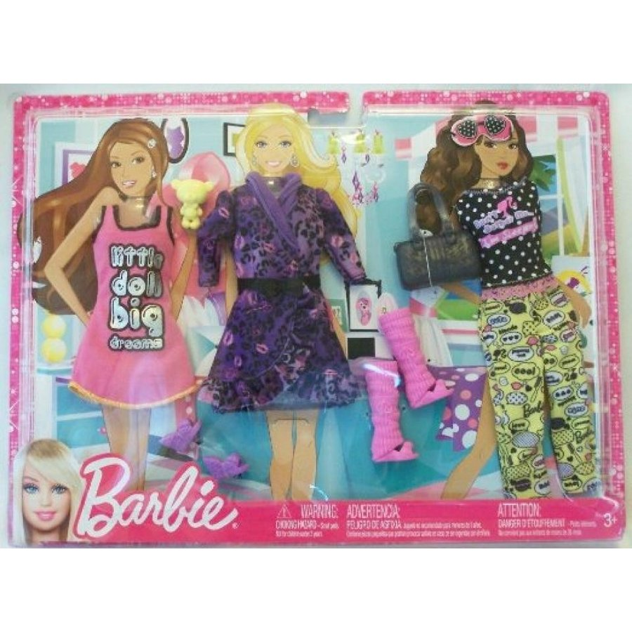 バービー人形 おもちゃ 着せ替え Barbie Fashionistas Big Dreams Sleepwear Fashion Pack 輸入品