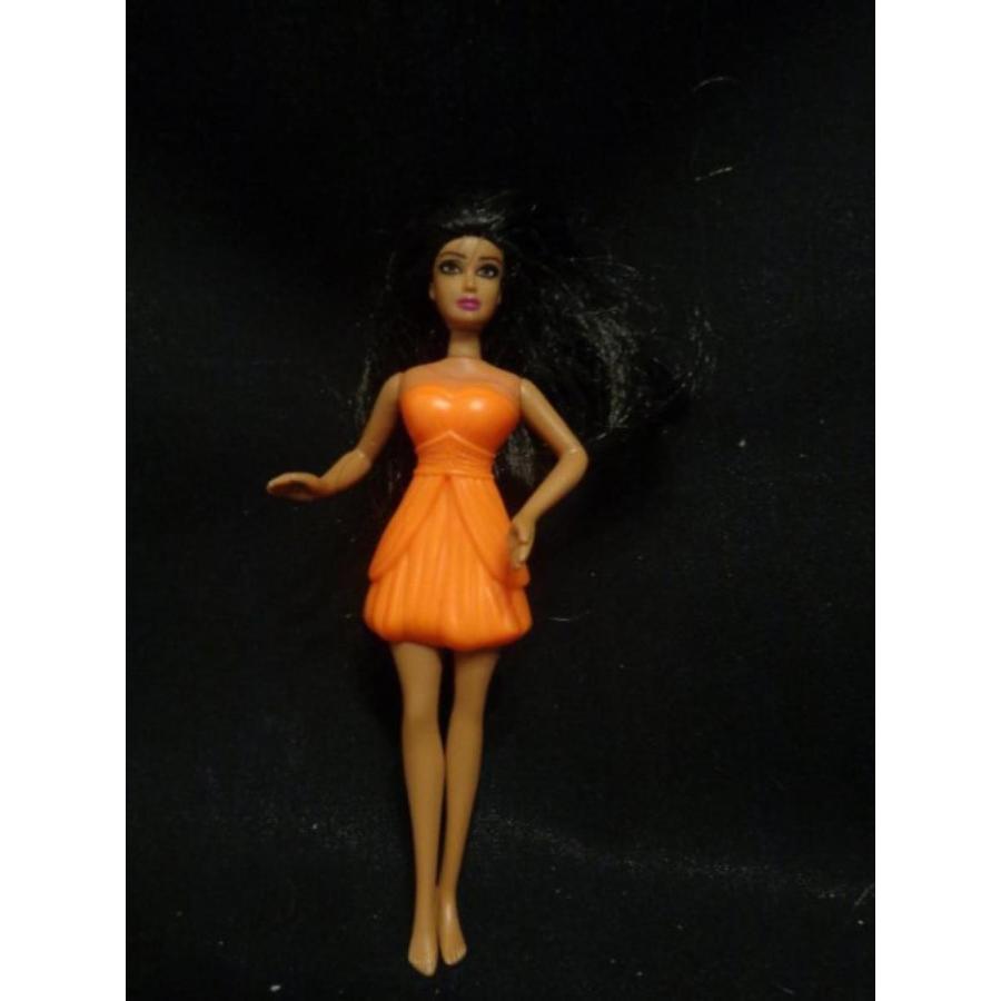 バービー人形 着せ替え おもちゃ 2011 MCDONALDS HAPPY MEAL TOY BARBIE A FAIRY DOLL IN オレンジ #4 輸入品