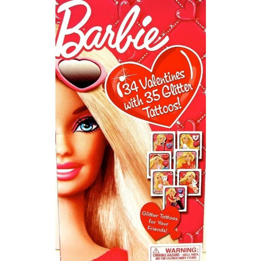 バービー人形 着せ替え おもちゃ Barbie 34 Valentines with 35 Glitter Tattoos 輸入品
