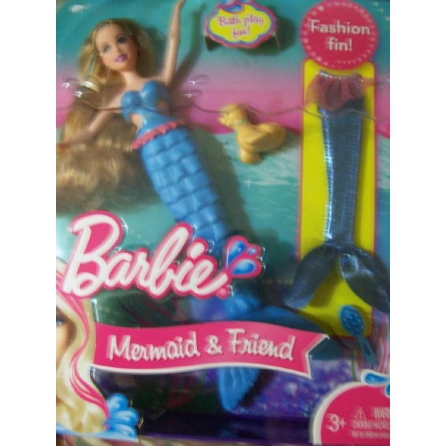 バービー人形 おもちゃ 着せ替え Barbie Mermaid and Friends-青 Fin/ 青 Glitter Fin- Pet Seal 輸入品