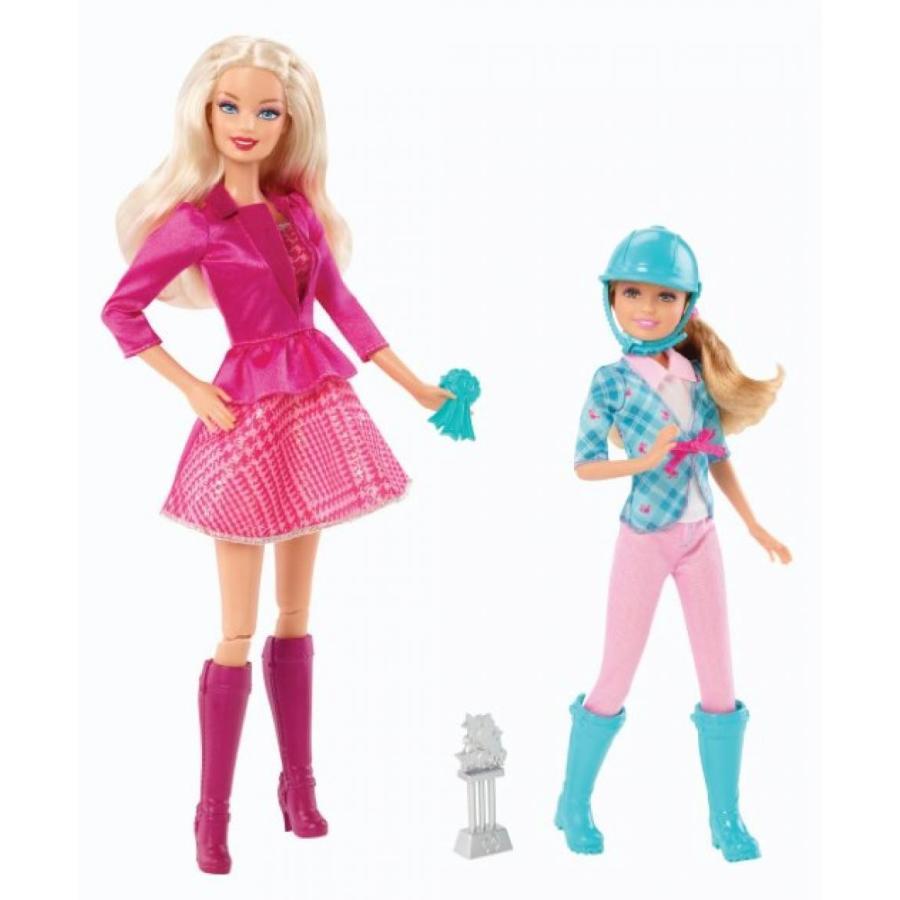 バービー人形 着せ替え おもちゃ Barbie and Her Sisters in a Pony Tale Barbie and Stacie Doll, 2-Pack 輸入品