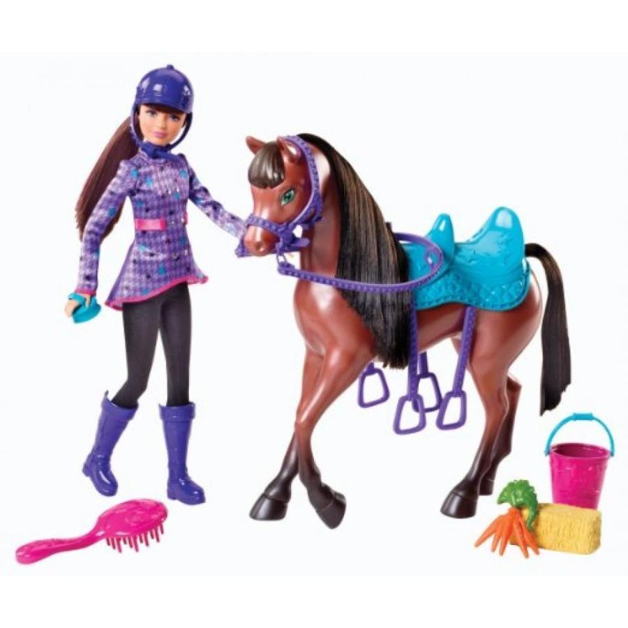 バービー人形 おもちゃ 着せ替え Barbie and Her Sisters in a Pony Tale Skipper and Horse Doll Playset 輸入品