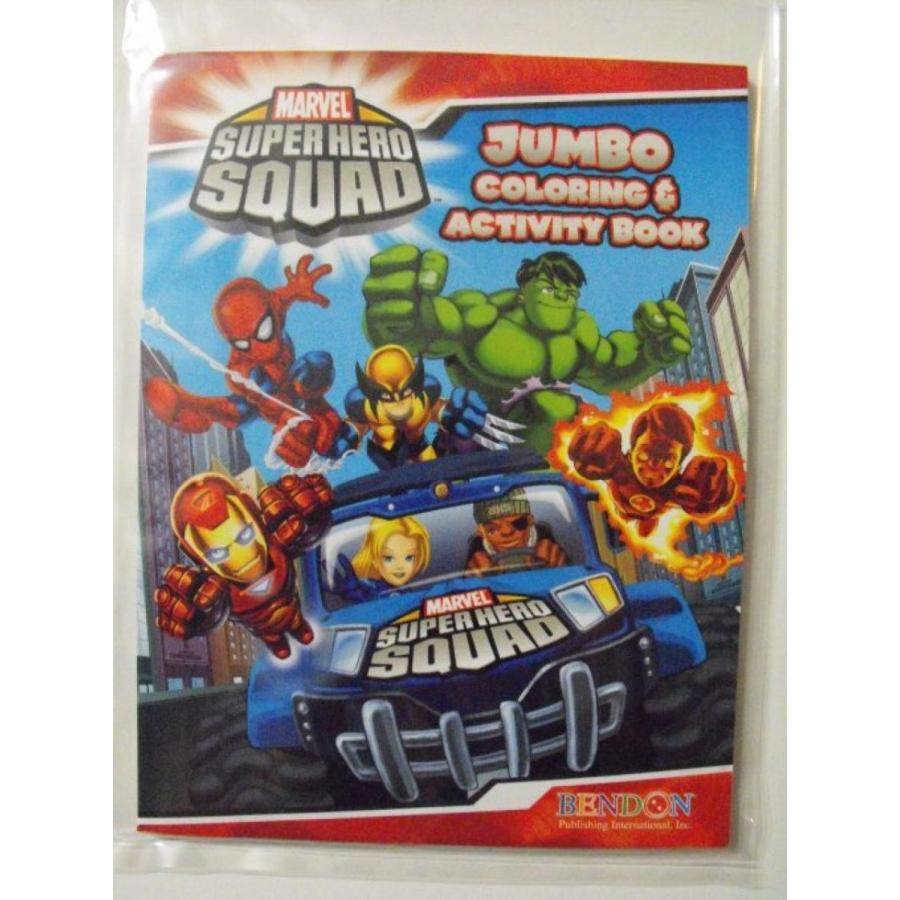 アナと雪の女王 おもちゃ フィギュア Marvel Superhero Squad 96pg Coloring and Activity Book.(City Cover) 輸入品