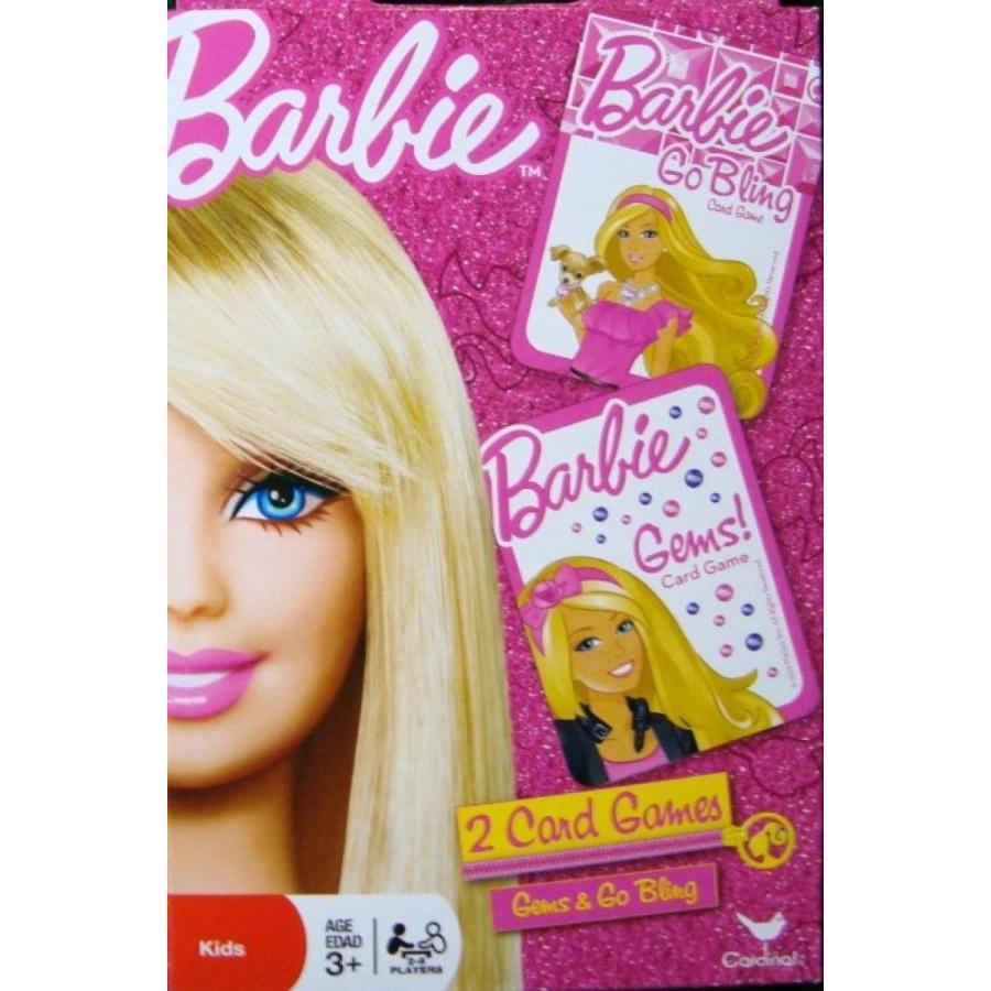 バービー人形 着せ替え おもちゃ Barbie 2 Card Games - Barbie Gems & Barbie Go Bling 輸入品