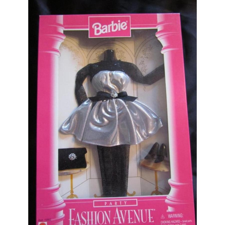 バービー人形 着せ替え おもちゃ Barbie Fashion Avenue Metallic 銀 and 黒 Party Dress 輸入品