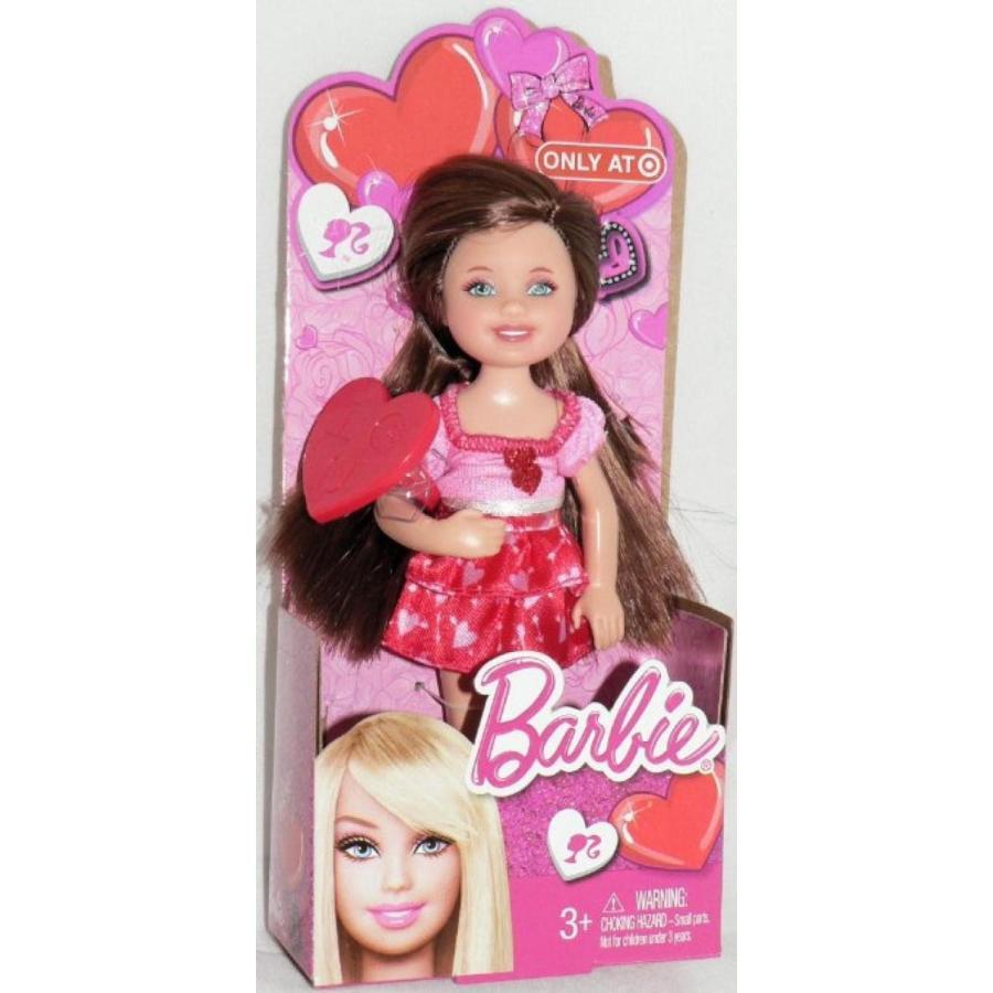 バービー人形 着せ替え おもちゃ 2013 Barbie Sister Kelly Valentine Chelsea 赤 Head Doll 輸入品