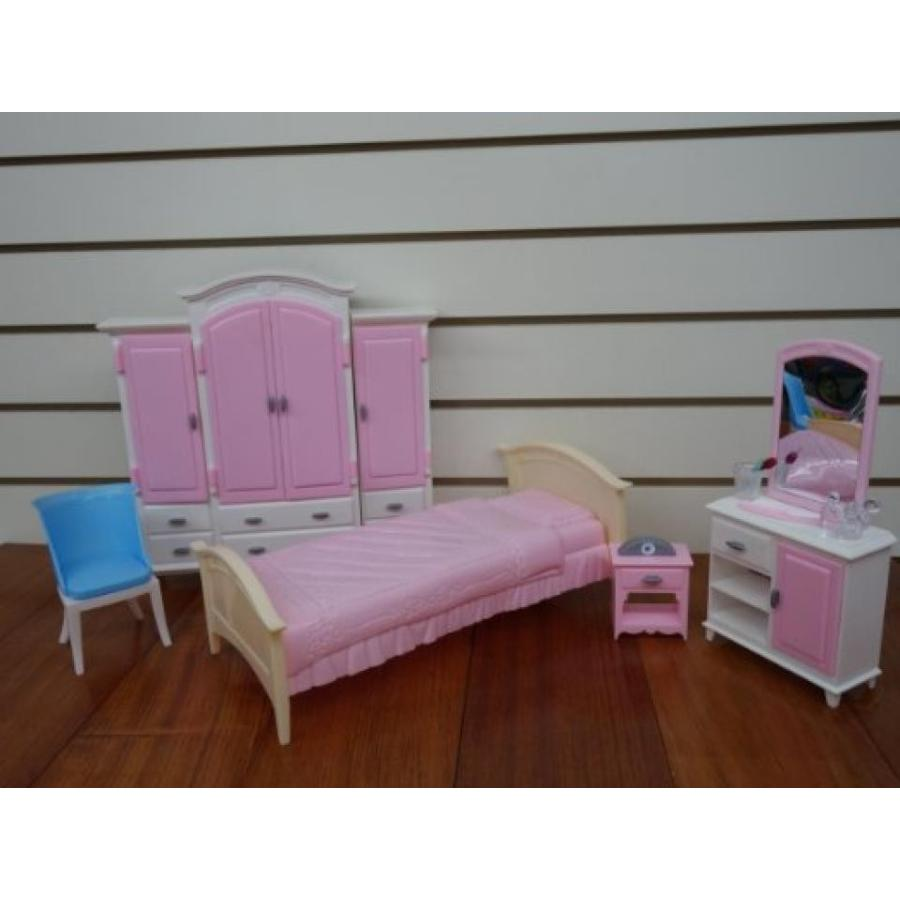 バービー人形 おもちゃ 着せ替え Barbie Size Dollhouse Furniture- Bed Room & Wardrobe Set 輸入品