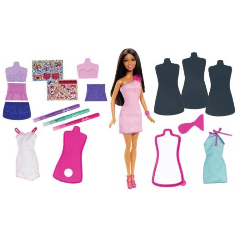 バービー人形 着せ替え おもちゃ Barbie Fashion Design Plates and African-American Doll 輸入品