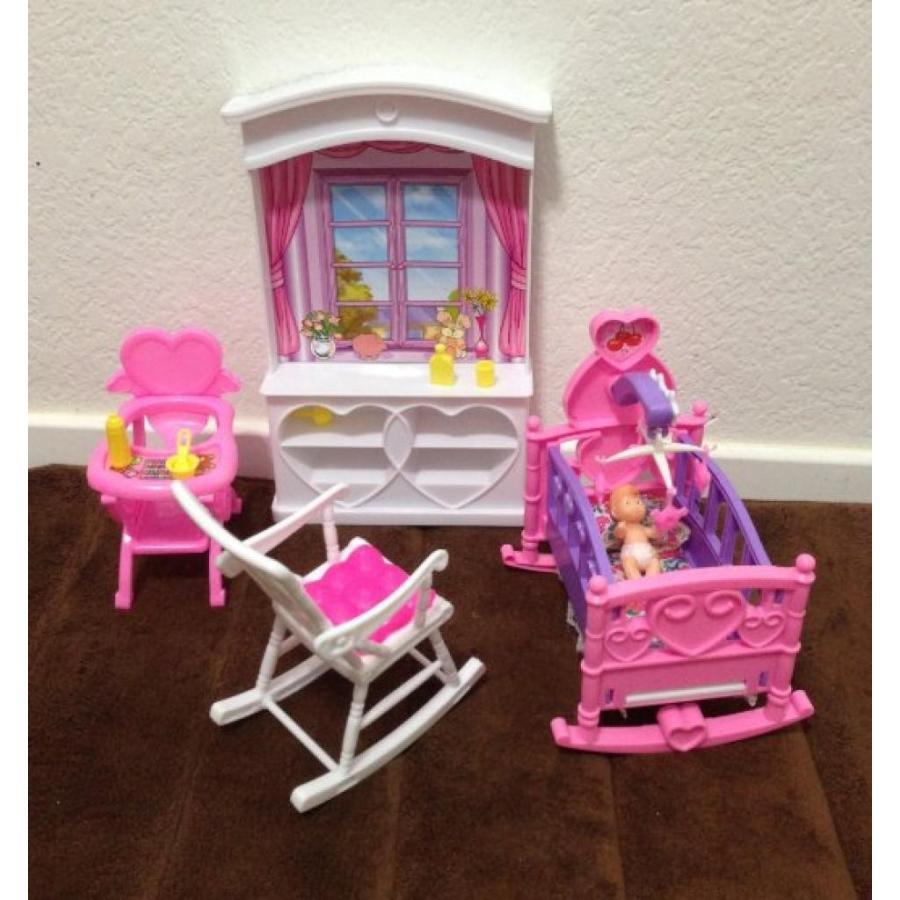 バービー人形 着せ替え おもちゃ Barbie Size Dollhouse Furniture- New Baby Room Play Set 輸入品