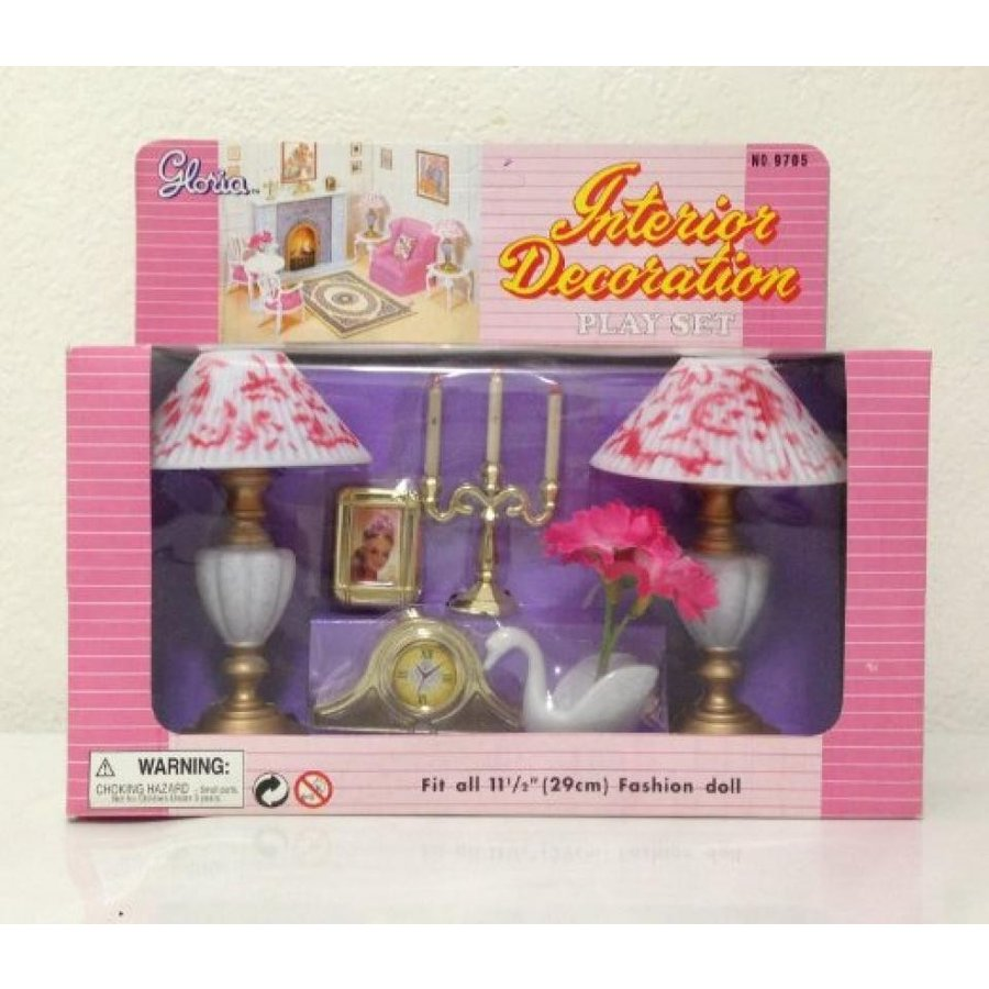 バービー人形 着せ替え おもちゃ Barbie Size Doll Lamp- Interior Decoration Play Set 輸入品