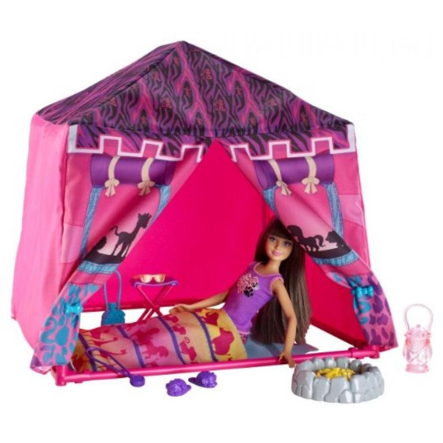 バービー人形 おもちゃ 着せ替え Barbie Sisters Safari Doll and Tent Playset 輸入品