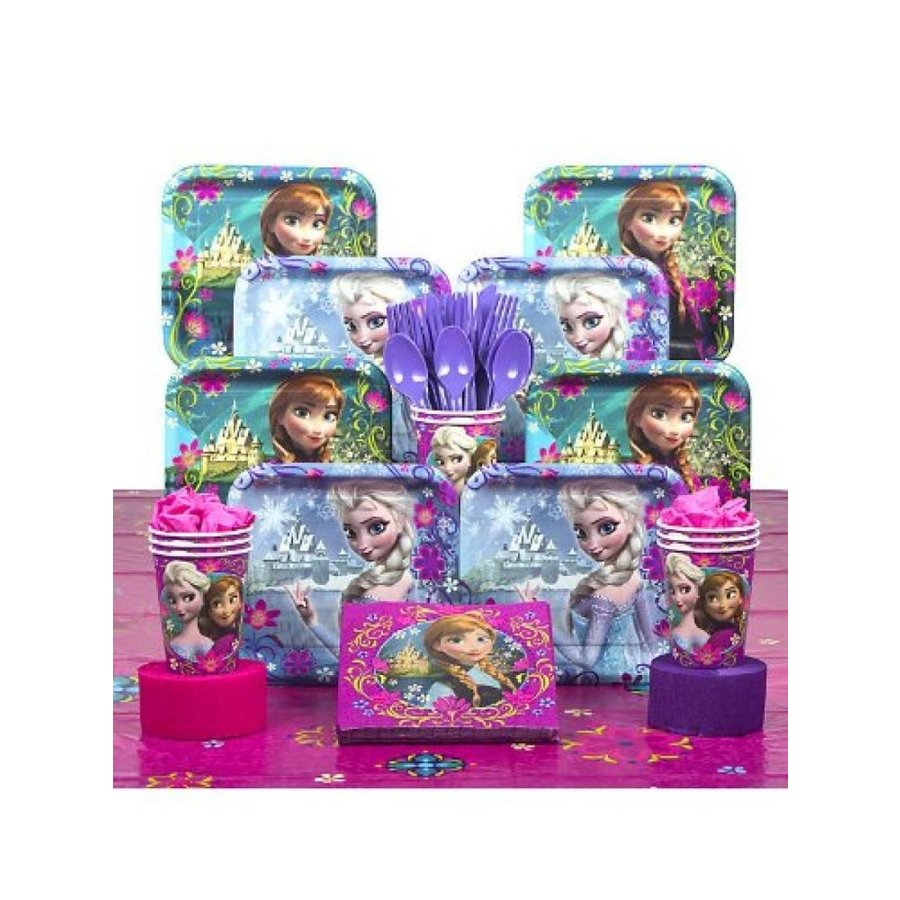 アナと雪の女王 おもちゃ フィギュア Disney Frozen Deluxe Party Supplies Pack Including Plate