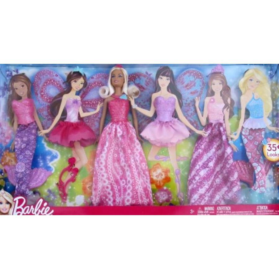 バービー人形 おもちゃ 着せ替え BARBIE DOLL & Extra FASHIONS Set 35+ LOOKS w MERMAID, FAIRY & More OUTFITS (2012) 輸入品