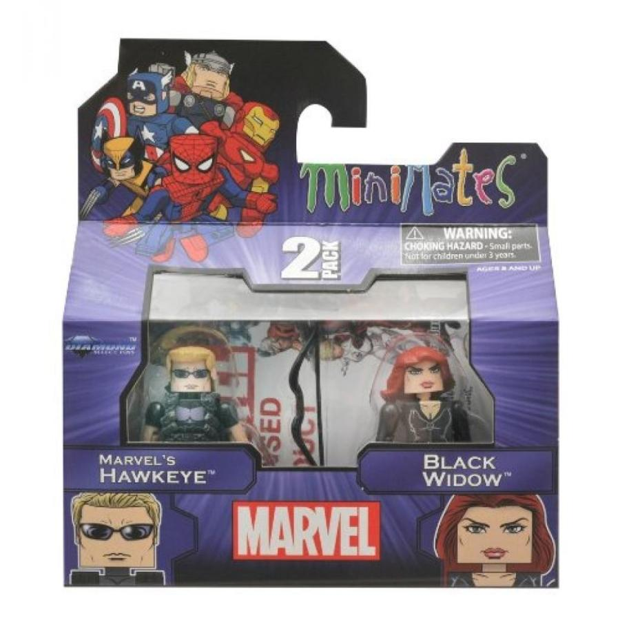 アベンジャーズ おもちゃ フィギュア Marvel Minimates Series 17 Hawkeye and 黒 Widow 輸入品