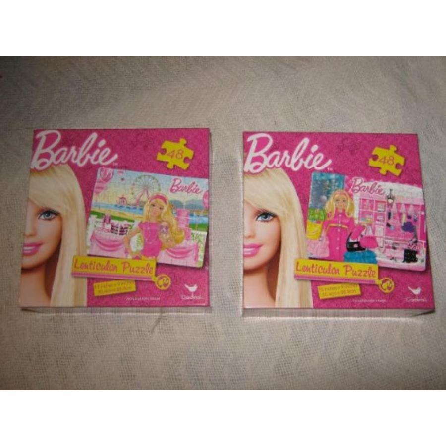 バービー人形 着せ替え おもちゃ Barbie Lenticular Puzzle--Set of 2 Puzzles 輸入品